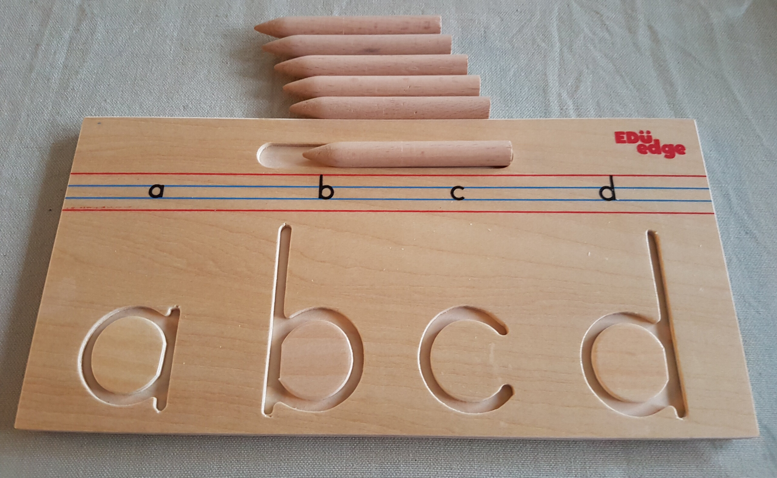 Montessori Wooden Advance Pattern Tracing Boards Pre-Writing for Tracing Letters On Wood