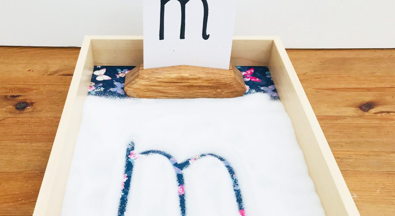 Montessori Writing Tray - Learning Fun - Mas & Pas in Montessori Tracing Letters