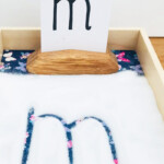Montessori Writing Tray - Learning Fun - Mas & Pas intended for Tracing Letters In Sand