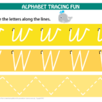 Number & Letters Tracing Mats Cursive Print inside Downloadable Tracing Letters