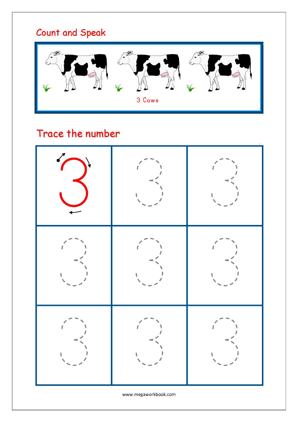 Free Printable Number Writing Worksheets For Kindergarten