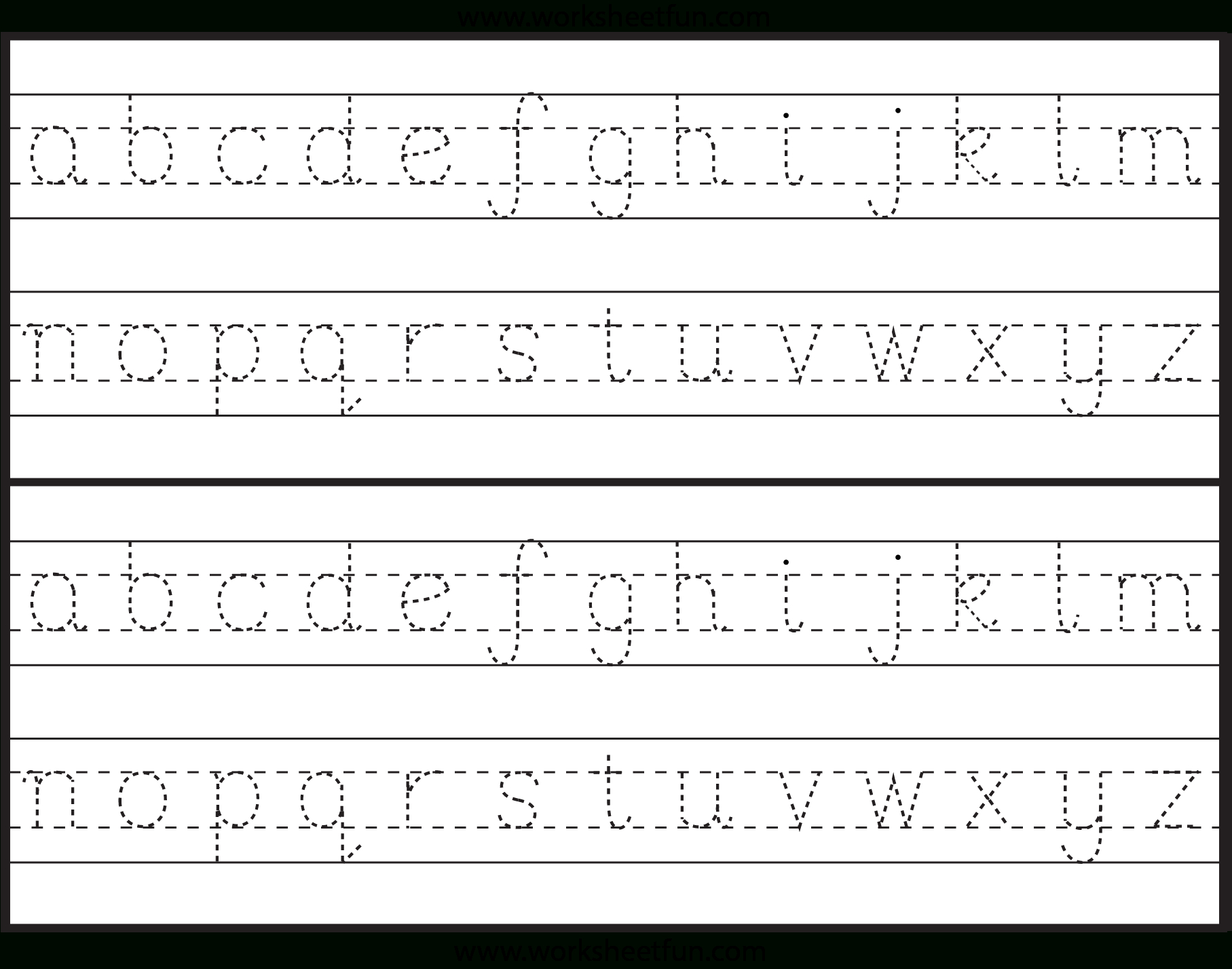 Dotted Letters For Tracing Font | TracingLettersWorksheets.com
