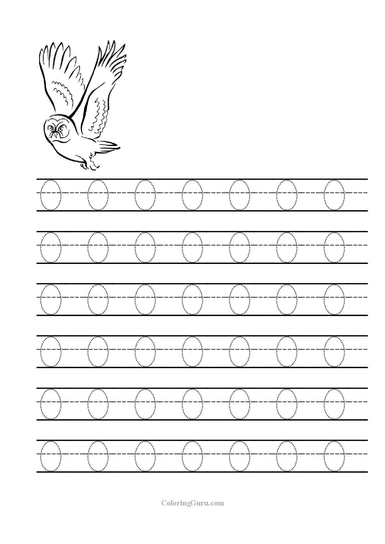 Pinjackie Faye Odell On Outside | Letter O Worksheets inside Trace Letter O Worksheets