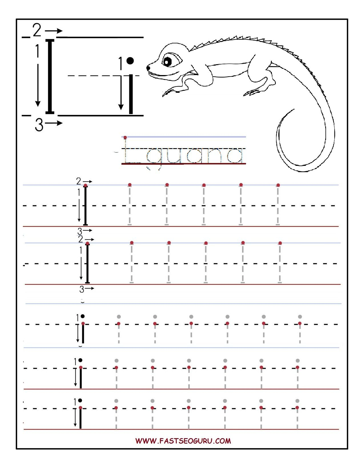 Pinvilfran Gason On Decor | Printable Preschool throughout Tracing Letter Ii Worksheets