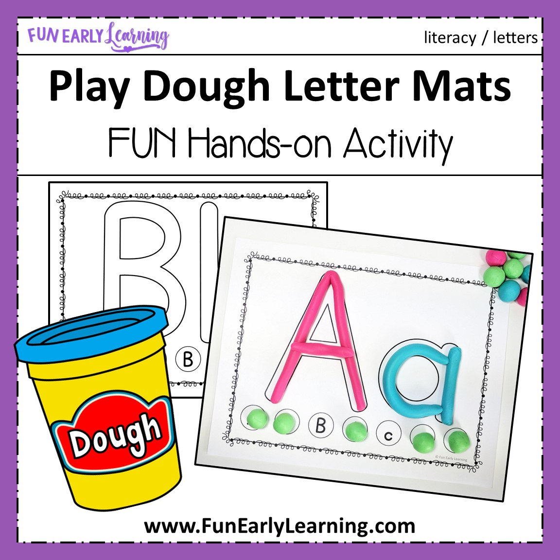 Play Dough Letter Mats For Letter Identification And Letter intended for Tracing Letters With Playdough