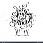 Postcards Birthday, Happy Birthday Hand Lettering, Happy throughout Happy Birthday Tracing Letters