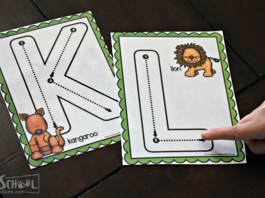 Practicing Tracing Letters With Your Finger For Letter K Is in Finger Tracing Letters
