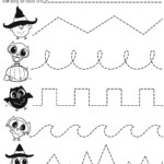 Pre-Writing Practice Halloween Worksheet | Halloween intended for Halloween Tracing Letters