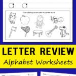 Prep Worksheets Free Printable Kids Letter Review Alphabet in Letter Tracing Worksheets Australia