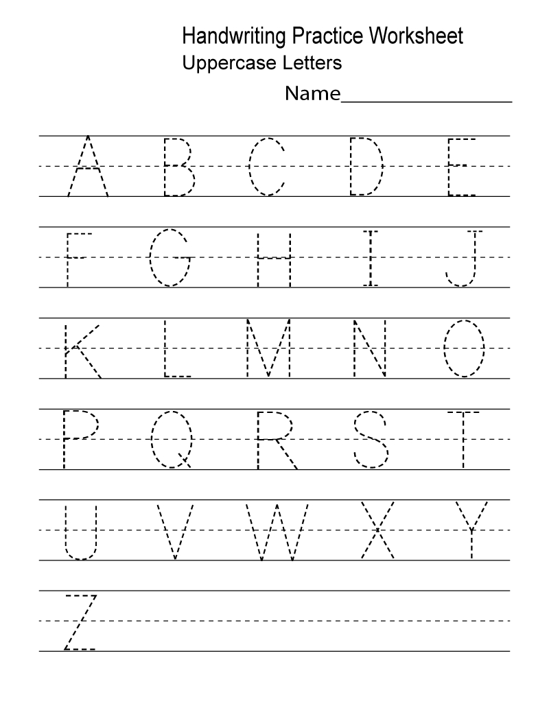 Free Printable Preschool Worksheets Tracing Letters Pdf ...