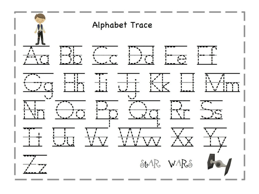Preschool Tracing Letter | Preschool Worksheets, Abc Tracing regarding Printable Tracing Letters Of The Alphabet