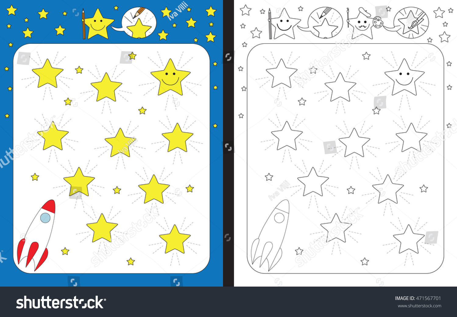 Preschool Worksheet Practicing Fine Motor Skills Stock with regard to Graphomotor Activity Tracing Letters