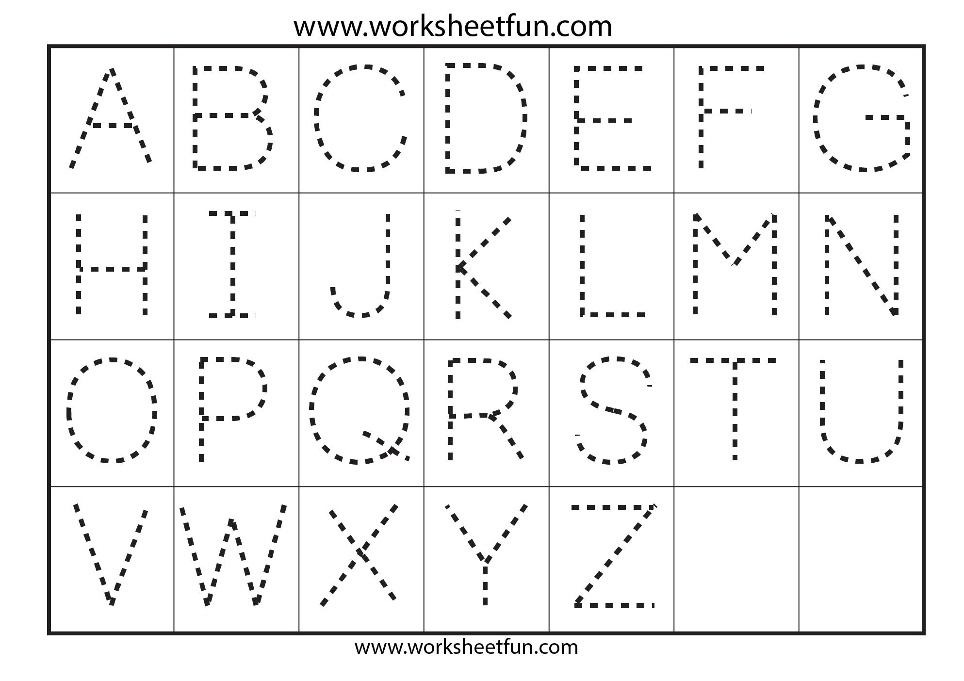 Preschool Worksheets Alphabet Tracing Letter A | Printable with Pre K Tracing Letters Worksheets