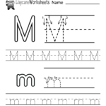 Preschoolers Can Color In The Letter M And Then Trace It in Tracing Letter M Worksheets Kindergarten