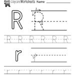 Preschoolers Can Color In The Letter R And Then Trace It regarding Tracing Letter R Worksheets