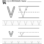 Preschoolers Can Color In The Letter V And Then Trace It with regard to Tracing Letter V Worksheets