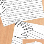 Primary Editable Writing Paper : Print Handwriting pertaining to Tracing Letters Editable