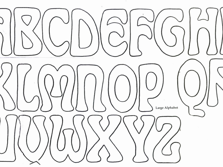Printable Bubble Letters To Trace | Download Them Or Print for Bubble Tracing Letters Printable