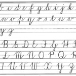 Printable Cursive Template | Teaching Cursive, Cursive within Tracing Cursive Letters