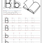 Printable Letter B Tracing Worksheets For Preschool throughout Printable Tracing Letters For Pre K