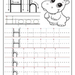 Printable Letter H Tracing Worksheets For Preschool in Tracing Letter H Worksheets Preschoolers