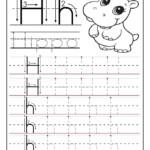Printable Letter H Tracing Worksheets For Preschool intended for Tracing Letter H Worksheets