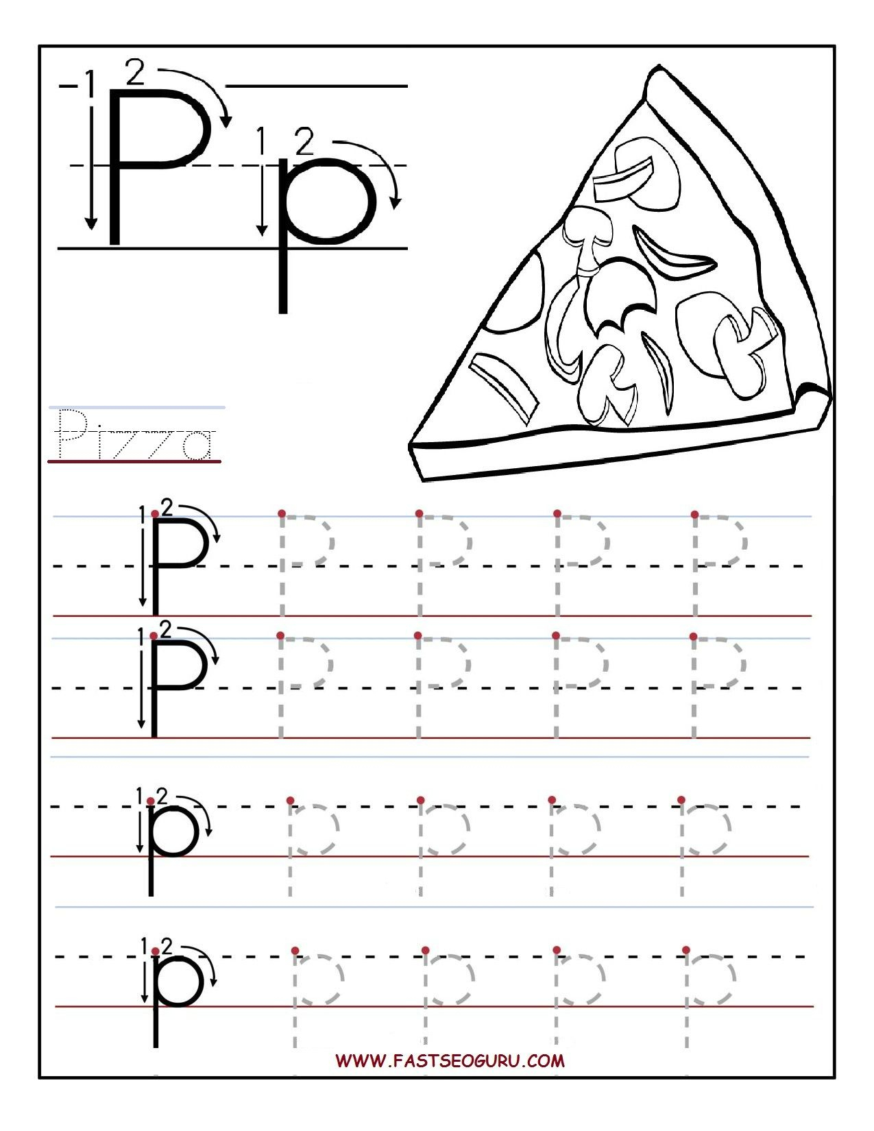 Printable Letter P Tracing Worksheets For Preschool intended for Tracing Letter P Worksheets