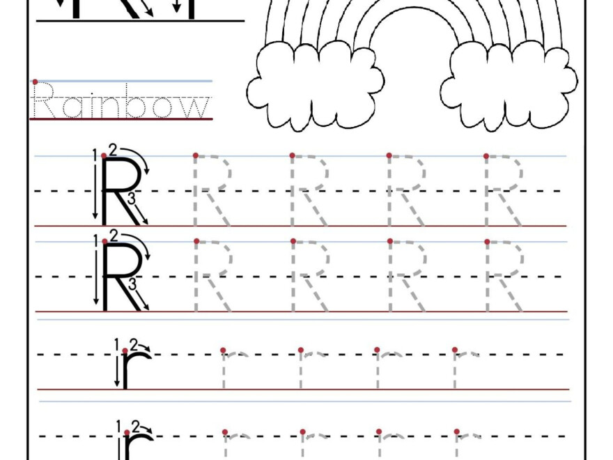 Printable Letter R Tracing Worksheets For Preschool regarding Tracing Letter R Worksheets