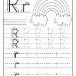 Printable Letter R Tracing Worksheets For Preschool throughout Letter Tracing Activity Worksheets