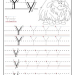 Printable Letter Y Tracing Worksheets For Preschool | Letter in Tracing Letter Y Worksheets