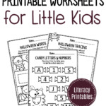 Printable Literacy Halloween Preschool Worksheets in Halloween Tracing Letters