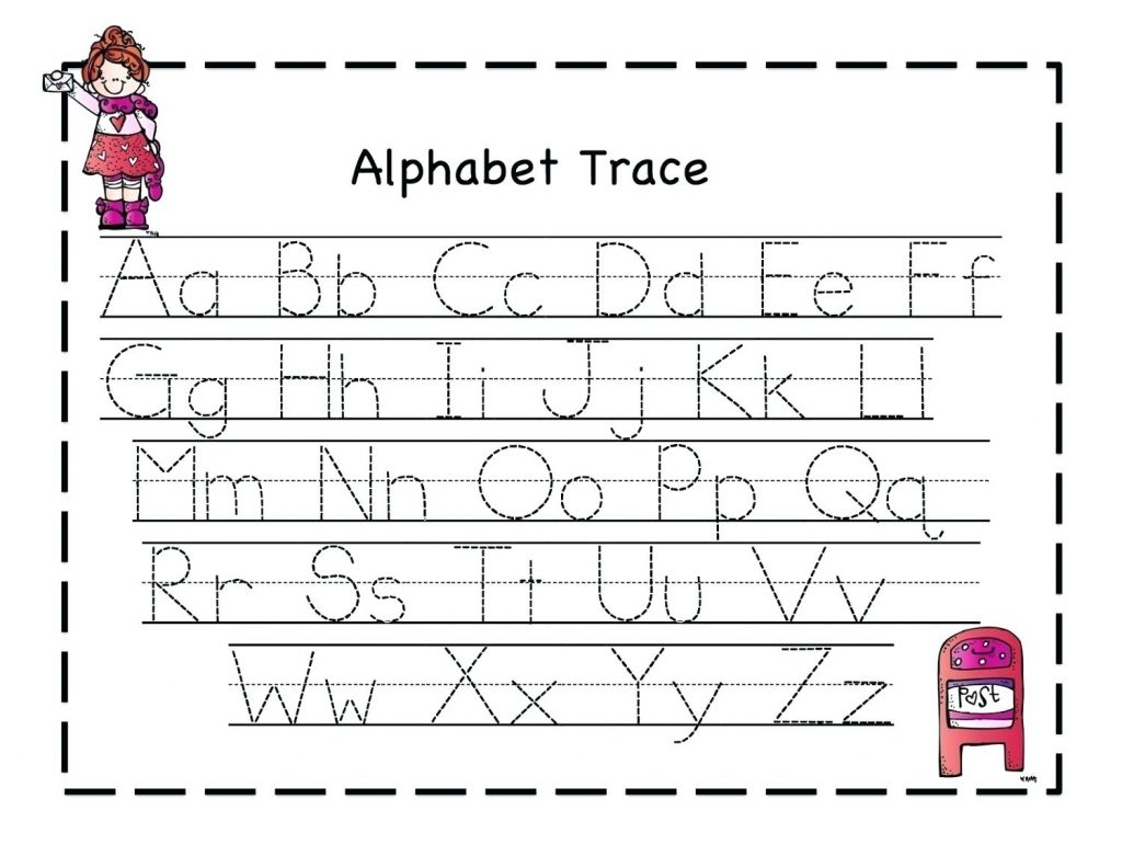 Printable Writing Eets For Year Olds Alphabet Tracing Free pertaining to Tracing Letters For 4 Year Olds