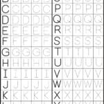 Printables Alphabet Pdf - Buscar Con Google | Arbeitsblätter inside Kindergarten Tracing Letters Pdf