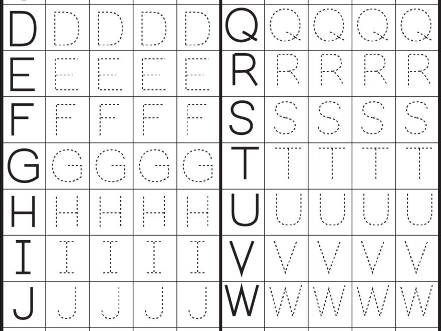 Printables Alphabet Pdf - Buscar Con Google | Printable inside Alphabet Letters Worksheets Tracing