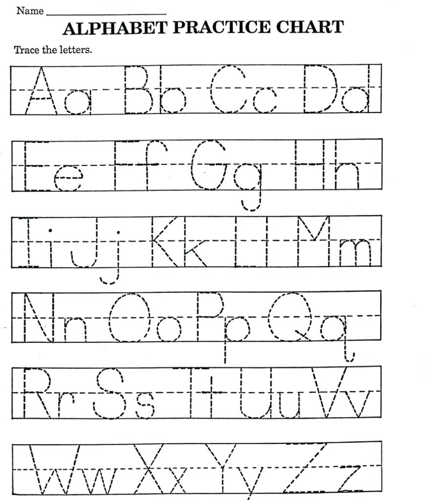 Printing Worksheets For Kids Free Name Tracing Preschool To for Preschool Tracing Letters Name
