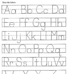 Printing Worksheets For Kids Free Name Tracing Preschool To within Printable Tracing Letters Free