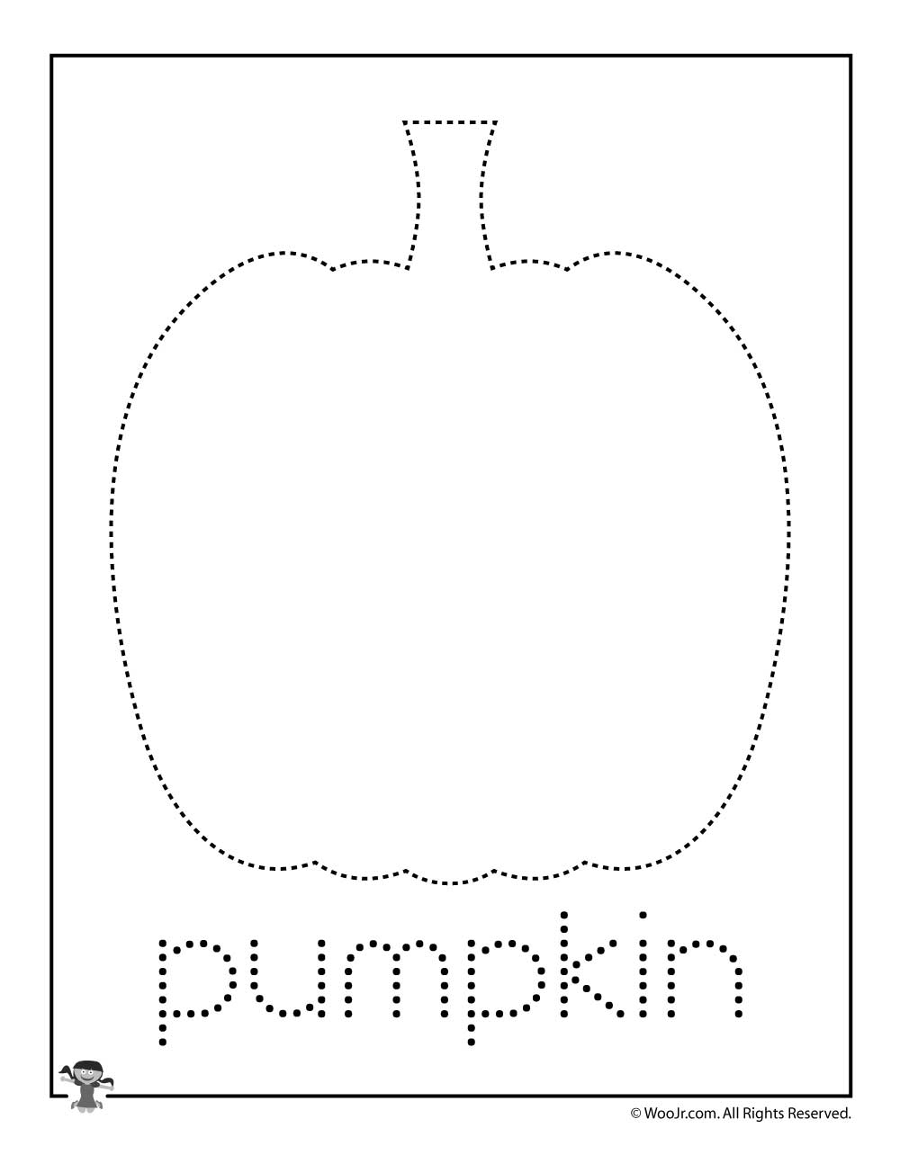Pumpkin Letter Tracing Practice | Woo! Jr. Kids Activities within Halloween Tracing Letters