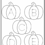 Pumpkin Lowercase And Uppercase Tracing Alphabet | A To Z throughout Tracing Letters Abc