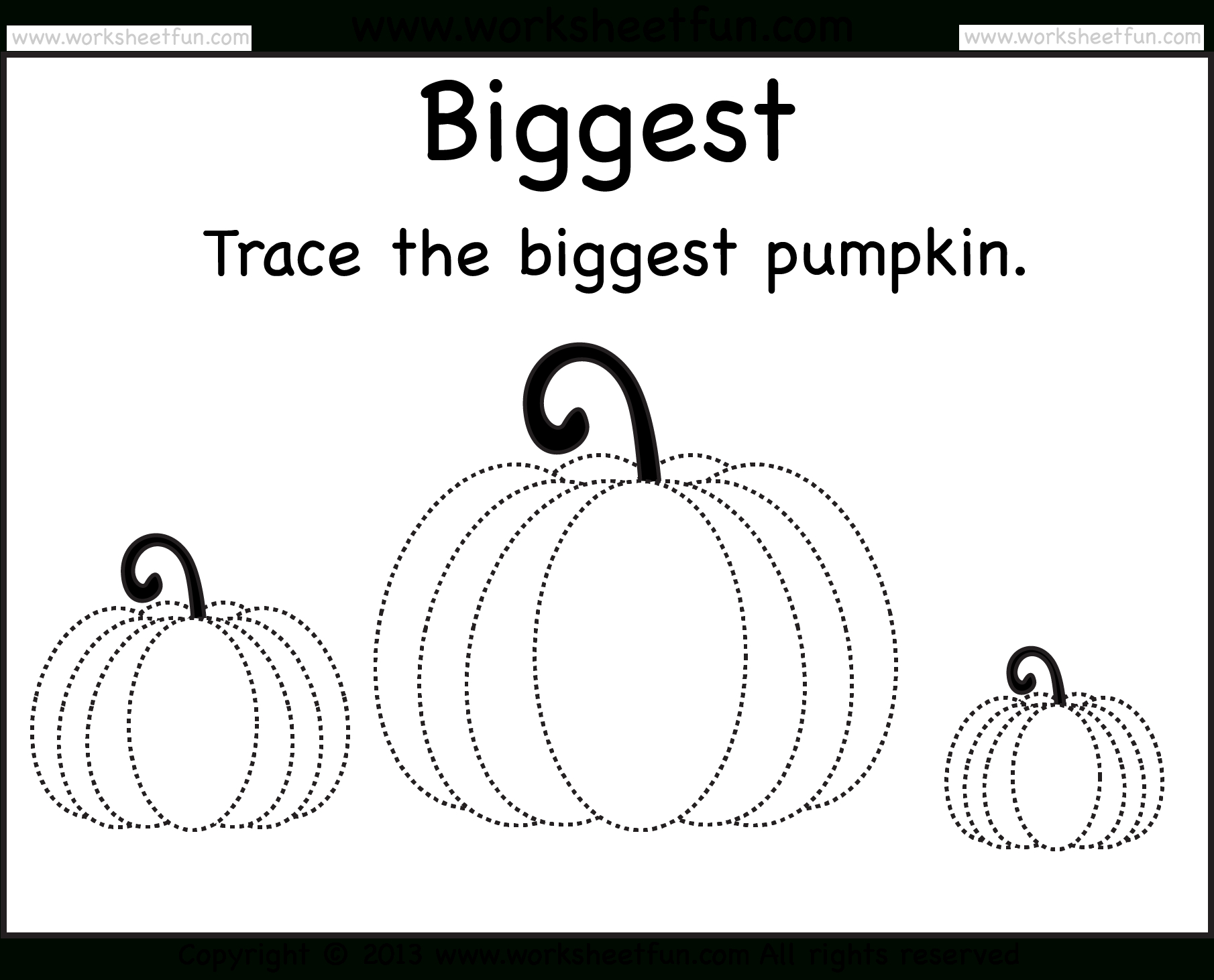 Pumpkin Tracing – 2 Worksheets / Free Printable Worksheets throughout Halloween Tracing Letters