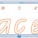 Qld Modern Cursive Font Handwriting Worksheets,teaching within Qld Font Tracing Letters
