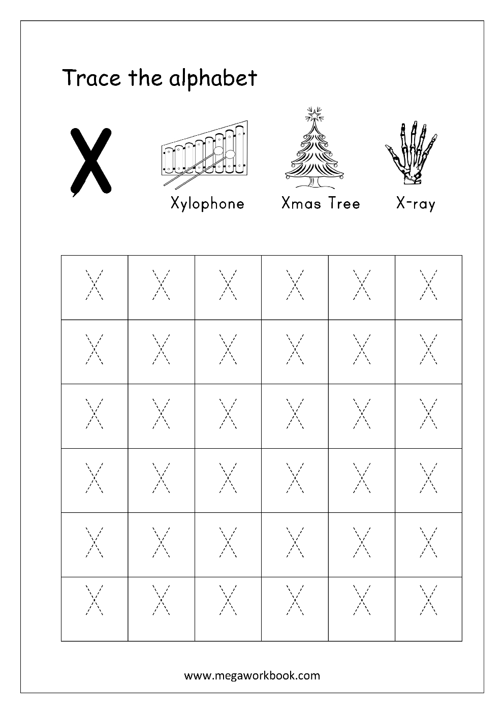 Ray Tracing Worksheet | Kids Activities regarding Tracing Letter X Worksheets