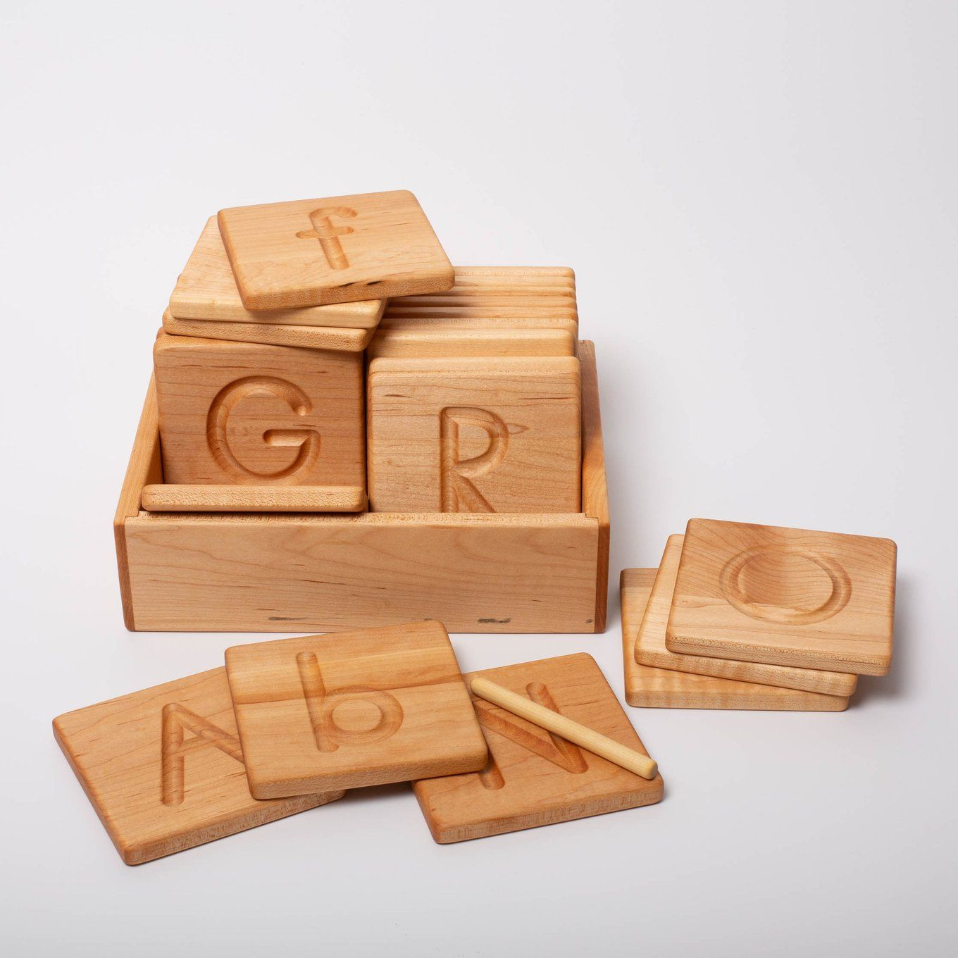 Reversible Wooden Abc Cards | Printed | Abc Cards, Wooden regarding Wooden Tracing Letters