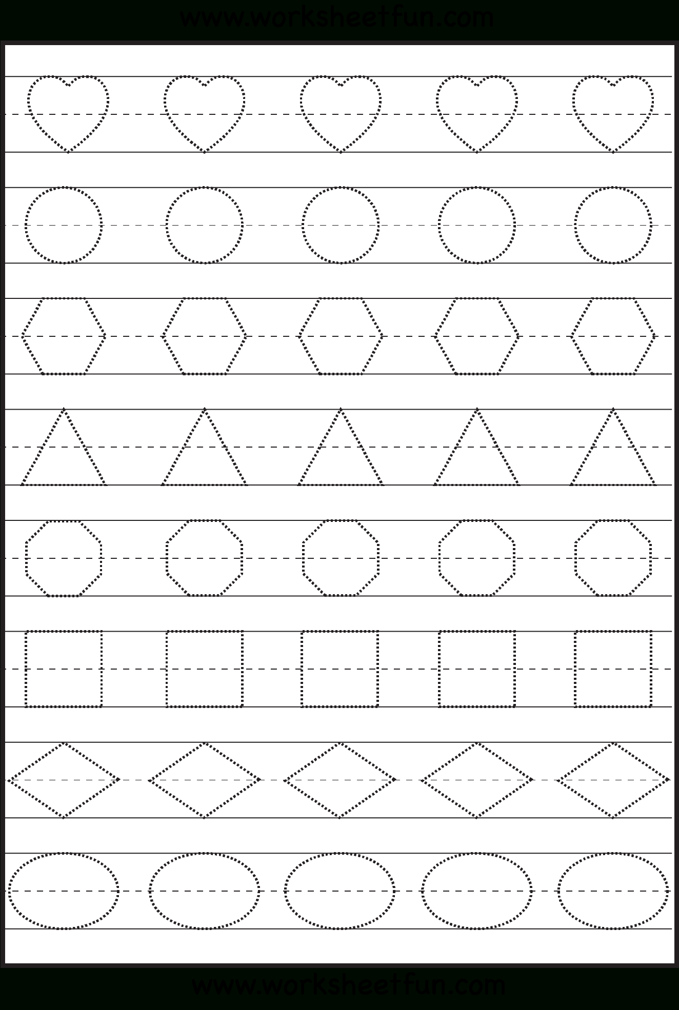 Shape Tracing, Letters & More - Lots Of Preschool Tracing intended for Practice Tracing Letters Preschool