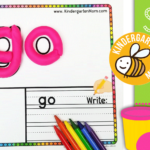 Sight Word Play Dough Mats - Kindergarten Mom for Tracing Letters With Playdough