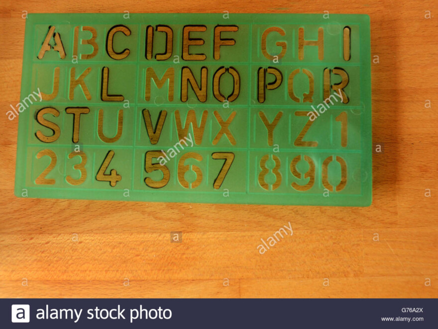 Stencil Letters Stock Photos & Stencil Letters Stock Images intended for Tracing Stencils Letters