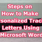 Steps On How To Make Personalized Tracing Letters Using Microsoft Word in How To Make Tracing Letters In Microsoft Word