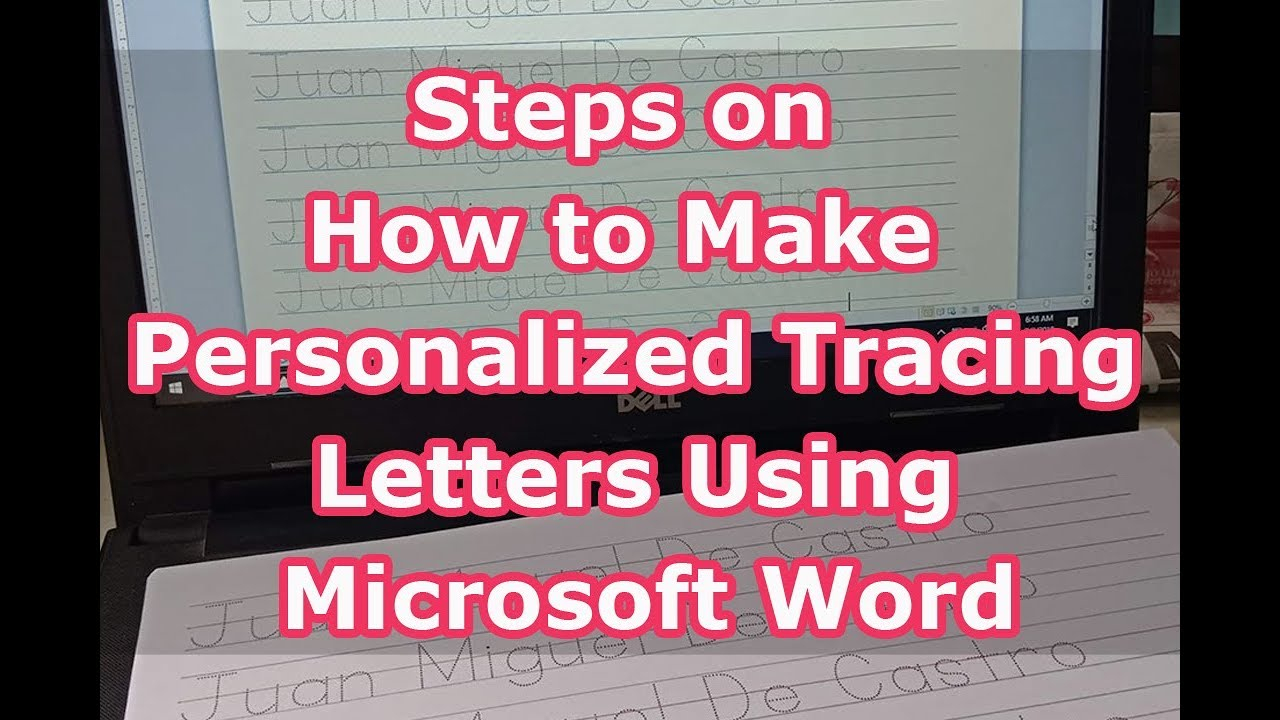 Steps On How To Make Personalized Tracing Letters Using Microsoft Word inside How To Make Tracing Letters