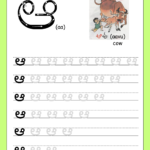 "Telugu Picture Reading Video Lesson ""aata (ఆట)"" in Telugu Letters Tracing Worksheets"