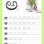 Telugu Picture Reading Video Lesson Araka (అరక) in Telugu Letters Tracing