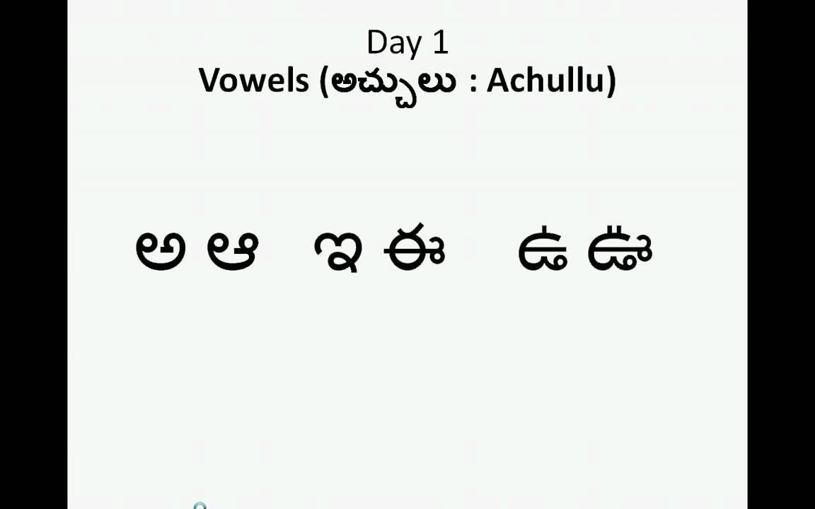 Teluguachulluday1 - Youtube within Tracing Telugu Letters Worksheets